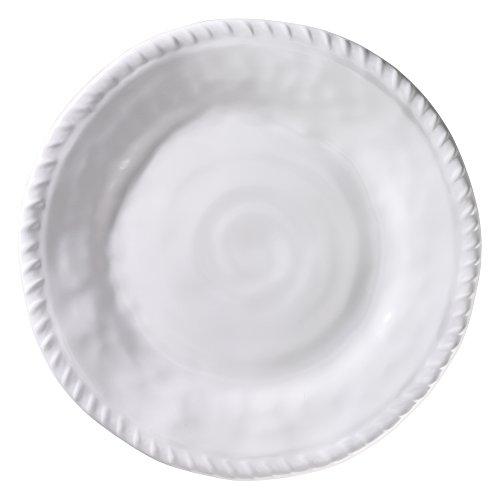 Merritt White Nautical Rope 11-inch Melamine Dinner Plates Set of 6