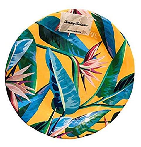 Tommy Bahama Tropical Bird of Paradise Melamine Dinner Plates set of 4