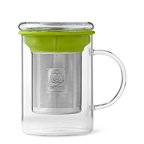 Remi Glass Tea Mug with Stainless Steel Infuser by Teavana