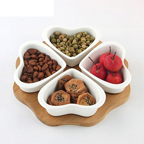 Ceramic Candy DishDried Fruit TrayCreative Fruit BowlSunflower SeedsSnack Plate-A
