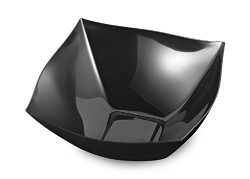 48 8oz Plastic Square Bowls Black Square Bowls - 8 oz Plastic Soup Bowls Small Party Dessert Bowls