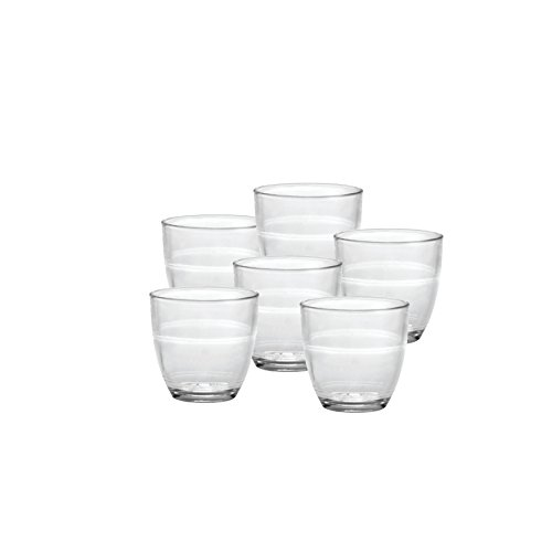 Duralex Made In France Gigogne Glass Tumbler Set of 6 312 oz Clear