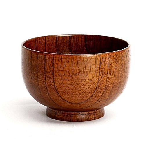 Fiesta 1 pcs Exquisite Noodles Soup Rice Wood Bowls Kids Lunch Wooden Bowl Box Kitchen Tableware Tool