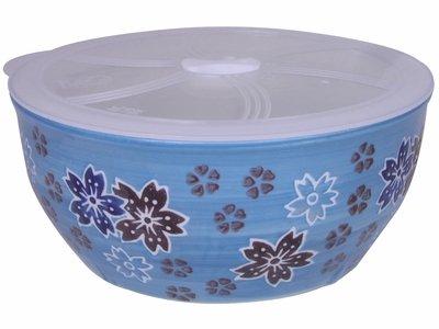 7-14 Inch Blue Flower Ramen Bowl With Lid