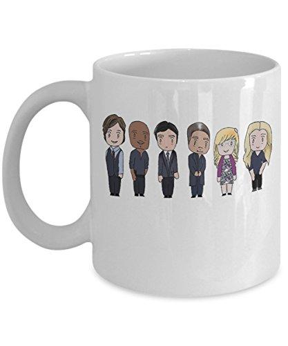 BAU UNIT - By Trinkets Novelty - Tv Show Inspired Criminal Minds Merchandise 11-oz FBI Agent Reid Hotchner Garcia Emily Prentiss Coffee Tea Mug Cup - Perfect Gift for Criminal Minds Fan