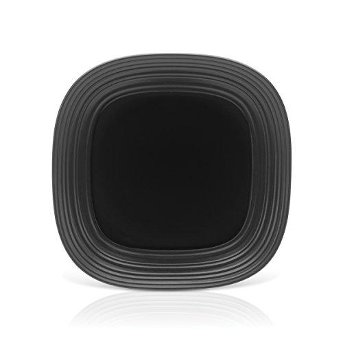Mikasa Swirl Black Square Serving Platter 12-Inch