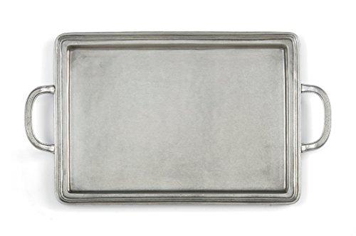 Arte Italica Peltro Rectangular Tray Medium Pewter