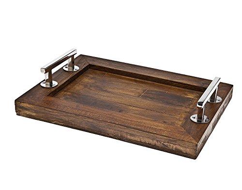 Godinger Rectangular Wooden Tray 16 x 12 Brown