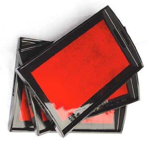 Red Lacquer tray - 10x15 Vietnamese Lacquerware TR1