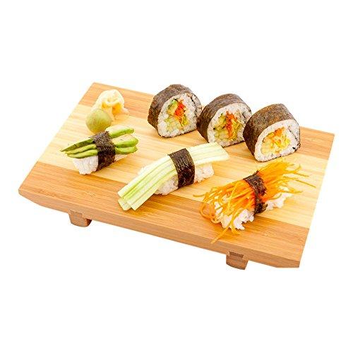 Japanese Sushi Plate Buddha Sushi Plate Wood Sushi Tray - 95 1ct Box - Restaurantware