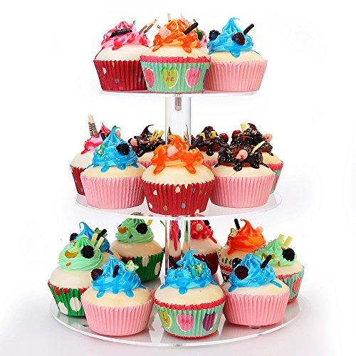 weddingwish 3 Tier Round Acrylic Cupcake Stand… …