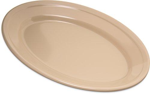 Carlisle 4356325 Dallas Ware Melamine Oval Platter Tray 925 x 625 Tan Pack of 24