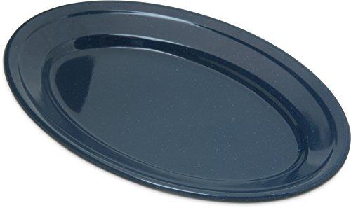 Carlisle 4356335 Dallas Ware Melamine Oval Platter Tray 925 x 625 Café Blue Pack of 24