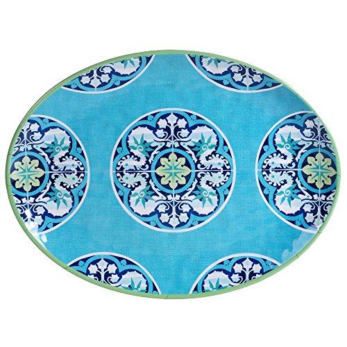Certified International Granada 18 x 135 Melamine Oval Platter Multicolor