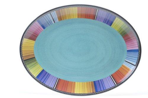 Certified International Serape Melamine Oval Platter 18 by 135-Inch