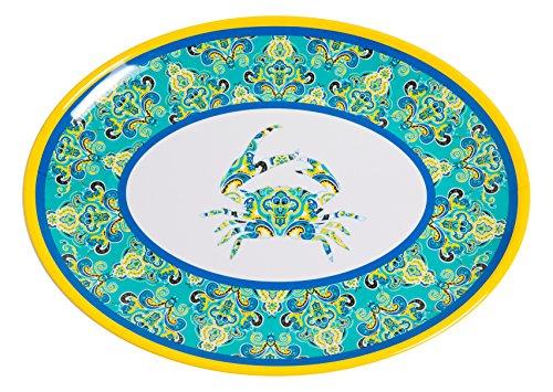 Galleyware Paisley Crab Melamine Oval Platter