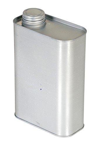 Vestil JUG-S-32 Tin-plated Steel Rectangular Jug with Metallic Cap 4-916 Length x 2-38 Width x 7-732 Height 32 oz Capacity