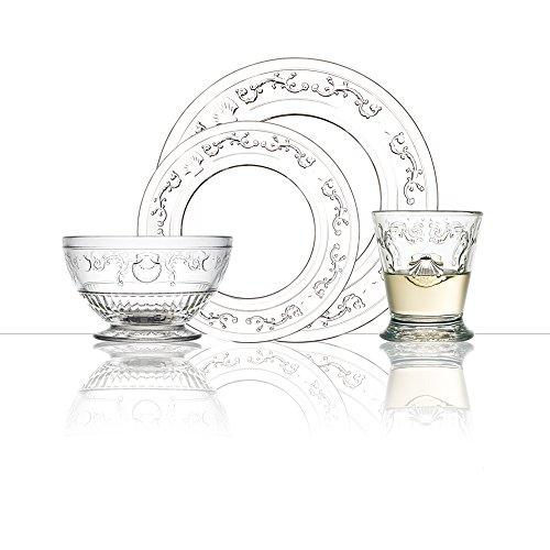 La Rochere GRP270 Versailles 24 Piece Glass Dinner Set Clear