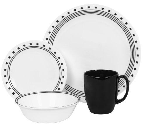 Corelle Livingware 16 piece Dinnerware Set Service for 4 City Block
