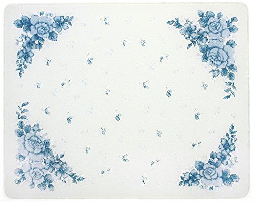 Corelle Blue Velvet 15 X 12 inch Counter Saver Tempered Glass Cutting Board 91512VLTH