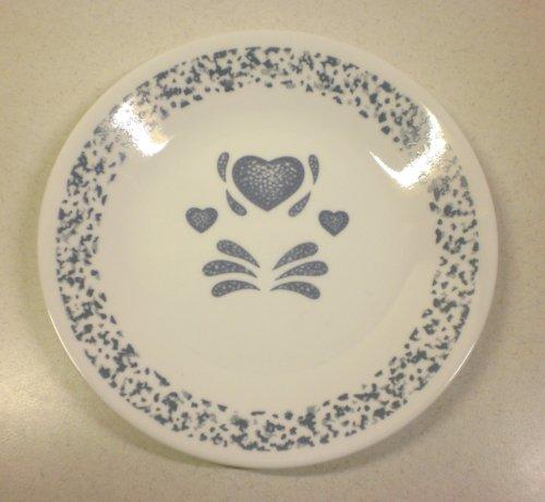 Corning Corelle Blue Hearts 6 34 Bread Butter Plates - Set of 4