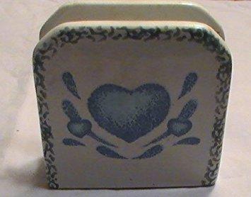 Corning Corelle Blue Hearts Napkin Holder