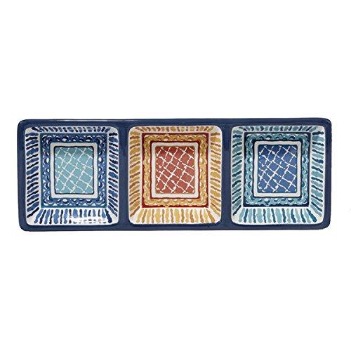 San Marino Ceramic 1375-inch x 5-inch 3-section Relish Tray