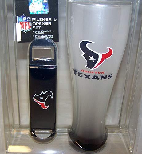 Houston Texans NFL 23 ozPilsner Glass Bottle Opener Gift Set