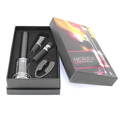 Wine Air Pressure Pump Opener Set Mayshion Wine Bottle Cork Remover Accessory Tool Kit with Wine Aerator Pourer Foil Cutter and Vacuum Stopper Perfect As a Gift
