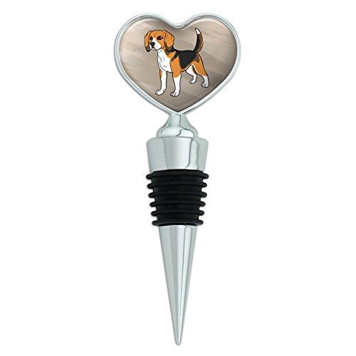 Beagle Pet Dog Heart Love Wine Bottle Stopper