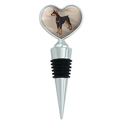 Doberman Pinscher Dog Pet Heart Love Wine Bottle Stopper