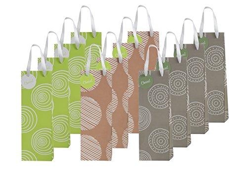 12 Piece Exclusive Wine Bags 3 Organic Designs