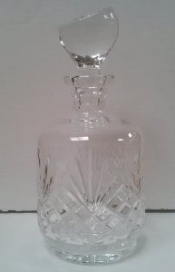 Crystal Wine  Port Decanter with slanted Stopper - Majestic