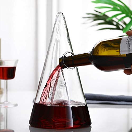 Luxury Wine Decanter - Lead-Free Premium Crystal Glass Red Wine Decante -100 Hand Blown Wine Decanter Tower Wine Carafe Wine Accessories Red Wine Decanter Wine Gift A