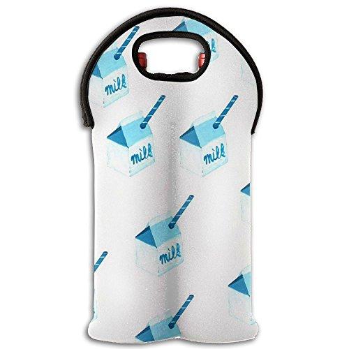 Milk Box Neoprene Wine Carrier Tote Bag Great For Stylish Sealed Wine Bag Purse Bridal Shower Novelty Gift 2 Bottle