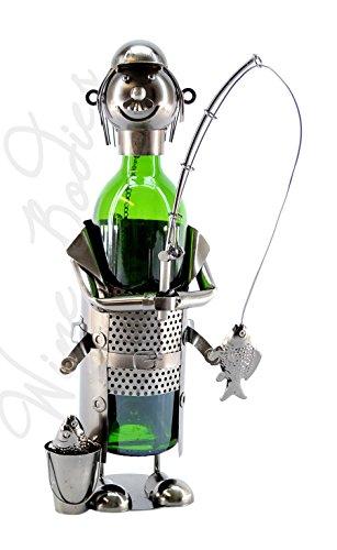 Wine Bodies Fisherman wPail Character Wine Bottle Holder Wine Caddy