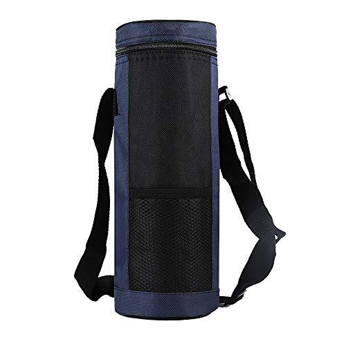 floor88 Water Bottle Carrier Insulation Bag Thermos Bottle Bag Adjustable Shoulder Strap Great for Stainless SteelGlassPlastic Bottles1100ML-2000ML Dark Blue