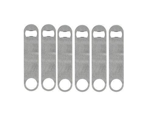 DAJIE Set of 6 Heavy Duty Stainless Steel Flat Bottle Opener