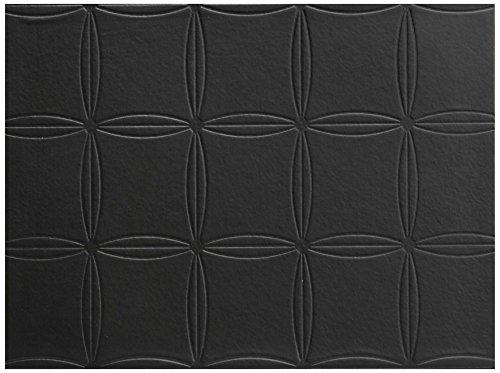 Harman Avalon Hardboard PVC Faux Leather Placemat Black 4-Pack