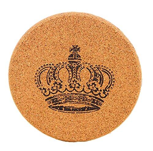 Set of 4 Zakka Cork Creative Crown Table Placemats&Insulation MatsSmall
