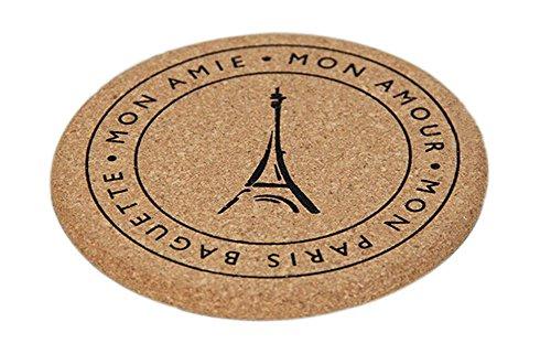 Set of 4 Zakka Cork Creative Eiffel Tower Table Placemats&Insulation Mats