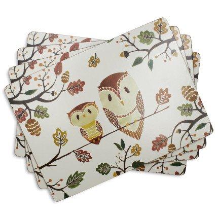 Sur La Table Woodland Cork-Backed Placemats A02993  115 x 1575 Set of 4