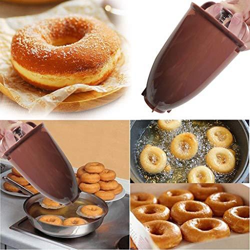 Donut Maker Dispenser C-Easy Mini Doughnut Donut Maker Machine Mold DIY Tool - Kitchen Pastry Making Bake Ware