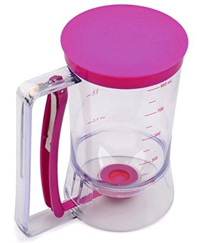 EZ Pancake Batter Dispenser - 4 Cup Waffle Muffin Cupcake Batter Dispenser - Pancake Pourer
