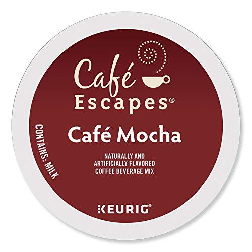 Cafe Escapes Cafe Mocha Coffee Beverage Single-Serve Keurig K-Cup Pods 96 Count 4 Boxes of 24 Pods