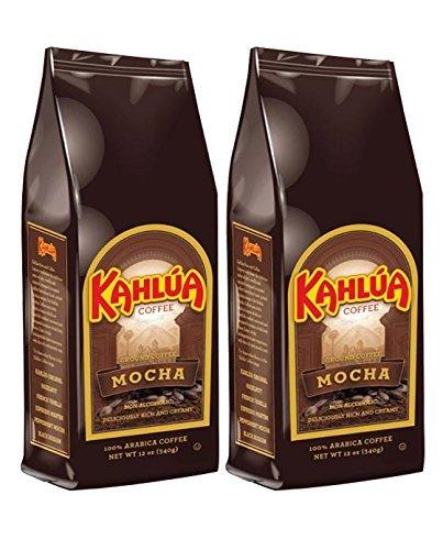 Coffee Kahlua Mocha Gourmet Ground Coffee 12-Ounce Bags Pack of 2