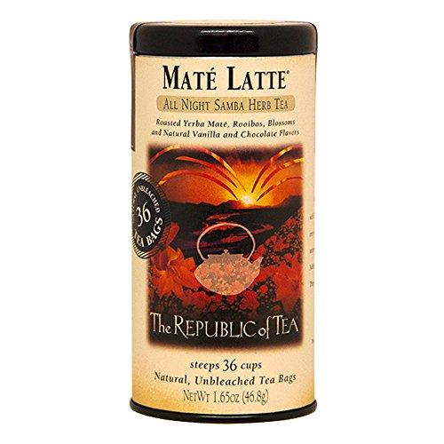 The Republic Of Tea Mate Latte Herbal Tea 36 Tea Bag Tin