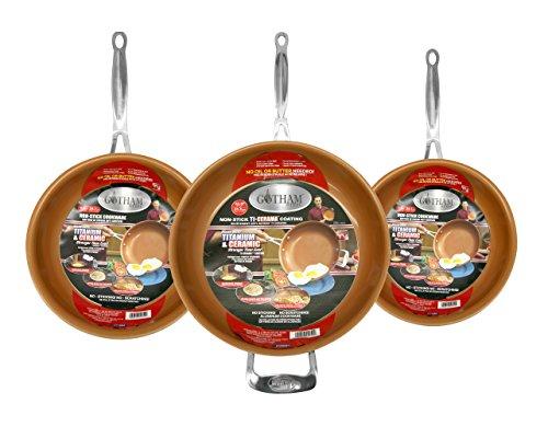 GOTHAM STEEL 3-Piece Nonstick Frying Pan Set