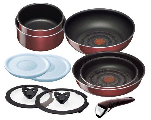T-fal pan frying pan set Noble Red set 10 taking Ingenio Neo handle L46790