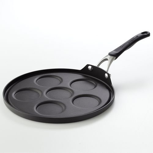 Cooking with Calphalon Hard-Anodized Silver Dollar Pancake Pan